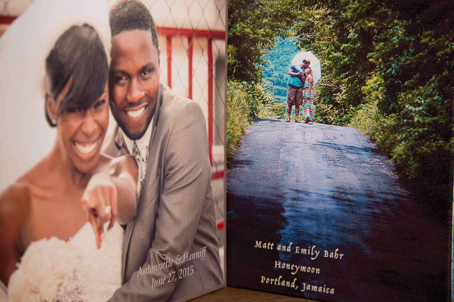Canvas cover for wedding albums included in wedding packages
